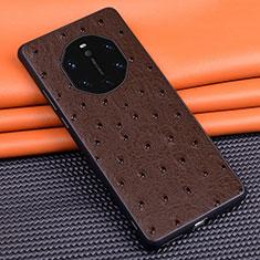 Handyhülle Hülle Luxus Leder Schutzhülle R03 für Huawei Mate 40 RS Braun