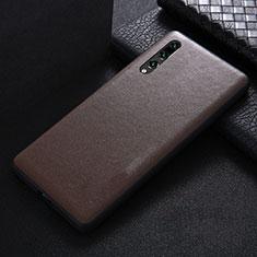 Handyhülle Hülle Luxus Leder Schutzhülle R03 für Huawei P20 Pro Braun