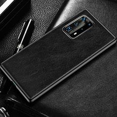 Handyhülle Hülle Luxus Leder Schutzhülle R03 für Huawei P40 Pro+ Plus Schwarz