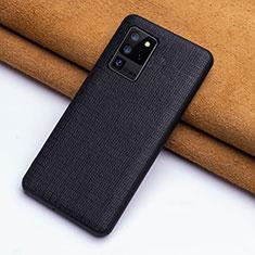 Handyhülle Hülle Luxus Leder Schutzhülle R03 für Samsung Galaxy S20 Ultra 5G Schwarz