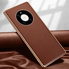 Handyhülle Hülle Luxus Leder Schutzhülle R04 für Huawei Mate 40 Pro Braun