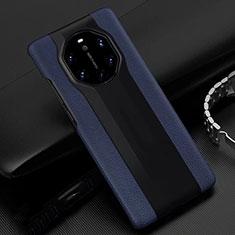 Handyhülle Hülle Luxus Leder Schutzhülle R04 für Huawei Mate 40 RS Blau