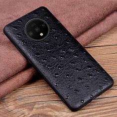 Handyhülle Hülle Luxus Leder Schutzhülle R04 für OnePlus 7T Schwarz