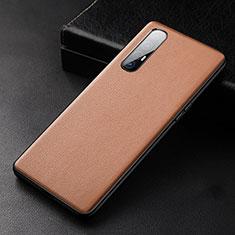Handyhülle Hülle Luxus Leder Schutzhülle R04 für Oppo Find X2 Neo Orange