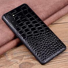 Handyhülle Hülle Luxus Leder Schutzhülle R04 für Samsung Galaxy Note 10 5G Schwarz