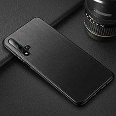 Handyhülle Hülle Luxus Leder Schutzhülle R05 für Huawei Honor 20 Schwarz