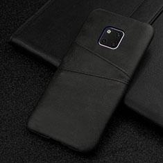 Handyhülle Hülle Luxus Leder Schutzhülle R05 für Huawei Mate 20 Pro Schwarz
