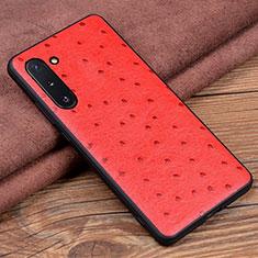Handyhülle Hülle Luxus Leder Schutzhülle R05 für Samsung Galaxy Note 10 5G Rot