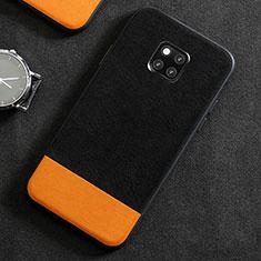 Handyhülle Hülle Luxus Leder Schutzhülle R06 für Huawei Mate 20 Pro Schwarz