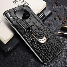 Handyhülle Hülle Luxus Leder Schutzhülle R06 für Huawei Mate 30 Pro Schwarz