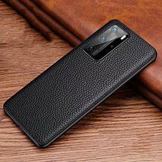 Handyhülle Hülle Luxus Leder Schutzhülle R06 für Huawei P40 Pro Schwarz