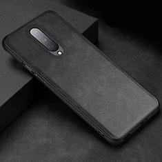 Handyhülle Hülle Luxus Leder Schutzhülle R06 für OnePlus 8 Schwarz