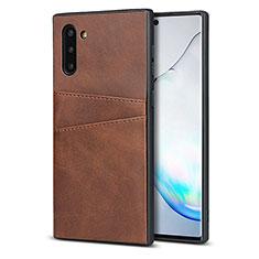 Handyhülle Hülle Luxus Leder Schutzhülle R06 für Samsung Galaxy Note 10 5G Braun