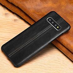 Handyhülle Hülle Luxus Leder Schutzhülle R06 für Samsung Galaxy S10 Schwarz