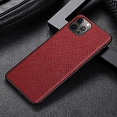 Handyhülle Hülle Luxus Leder Schutzhülle R07 für Apple iPhone 12 Pro Max Rot