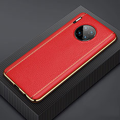 Handyhülle Hülle Luxus Leder Schutzhülle R07 für Huawei Mate 30 5G Rot