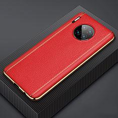Handyhülle Hülle Luxus Leder Schutzhülle R07 für Huawei Mate 30 Pro Rot