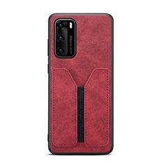 Handyhülle Hülle Luxus Leder Schutzhülle R07 für Huawei P40 Rot