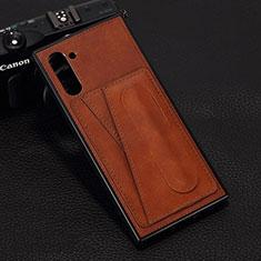 Handyhülle Hülle Luxus Leder Schutzhülle R07 für Samsung Galaxy Note 10 5G Braun