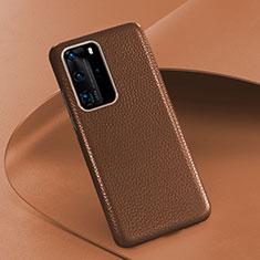 Handyhülle Hülle Luxus Leder Schutzhülle R08 für Huawei P40 Pro Braun