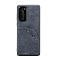 Handyhülle Hülle Luxus Leder Schutzhülle R08 für Huawei P40 Schwarz
