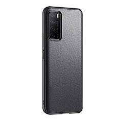 Handyhülle Hülle Luxus Leder Schutzhülle S01 für Huawei Honor Play4 5G Schwarz