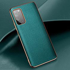Handyhülle Hülle Luxus Leder Schutzhülle S01 für Huawei Honor X10 5G Cyan