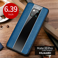 Handyhülle Hülle Luxus Leder Schutzhülle S01 für Huawei Mate 20 Pro Blau