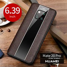 Handyhülle Hülle Luxus Leder Schutzhülle S01 für Huawei Mate 20 Pro Braun