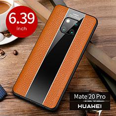 Handyhülle Hülle Luxus Leder Schutzhülle S01 für Huawei Mate 20 Pro Orange