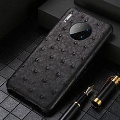 Handyhülle Hülle Luxus Leder Schutzhülle S01 für Huawei Mate 30 Pro Schwarz