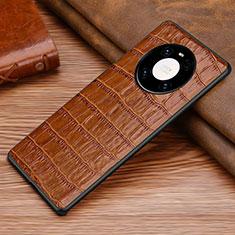 Handyhülle Hülle Luxus Leder Schutzhülle S01 für Huawei Mate 40 Braun