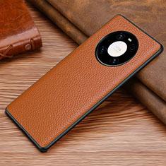 Handyhülle Hülle Luxus Leder Schutzhülle S01 für Huawei Mate 40 Pro Braun