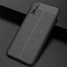 Handyhülle Hülle Luxus Leder Schutzhülle S01 für Huawei Y8p Schwarz