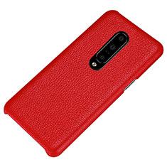 Handyhülle Hülle Luxus Leder Schutzhülle S01 für OnePlus 7 Pro Rot