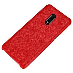 Handyhülle Hülle Luxus Leder Schutzhülle S01 für OnePlus 7 Rot
