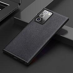 Handyhülle Hülle Luxus Leder Schutzhülle S01 für Samsung Galaxy Note 20 Ultra 5G Schwarz