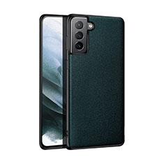 Handyhülle Hülle Luxus Leder Schutzhülle S01 für Samsung Galaxy S21 Plus 5G Nachtgrün