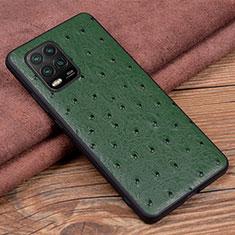 Handyhülle Hülle Luxus Leder Schutzhülle S01 für Xiaomi Mi 10 Lite Grün