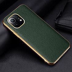 Handyhülle Hülle Luxus Leder Schutzhülle S01 für Xiaomi Mi 11 5G Grün