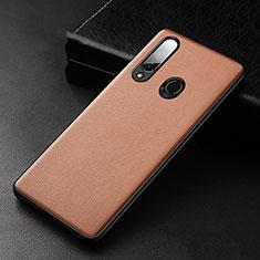 Handyhülle Hülle Luxus Leder Schutzhülle S02 für Huawei Enjoy 10 Plus Braun