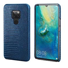 Handyhülle Hülle Luxus Leder Schutzhülle S02 für Huawei Mate 20 Blau