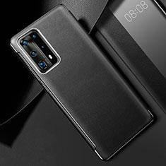 Handyhülle Hülle Luxus Leder Schutzhülle S02 für Huawei P40 Pro+ Plus Schwarz