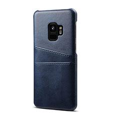 Handyhülle Hülle Luxus Leder Schutzhülle S02 für Samsung Galaxy S9 Blau