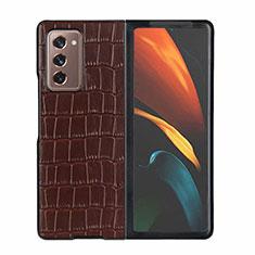 Handyhülle Hülle Luxus Leder Schutzhülle S02 für Samsung Galaxy Z Fold2 5G Braun