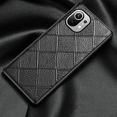 Handyhülle Hülle Luxus Leder Schutzhülle S02 für Xiaomi Mi 11 5G Schwarz