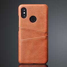 Handyhülle Hülle Luxus Leder Schutzhülle S02 für Xiaomi Mi 8 Braun