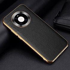 Handyhülle Hülle Luxus Leder Schutzhülle S03 für Huawei Mate 40 Schwarz