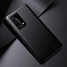 Handyhülle Hülle Luxus Leder Schutzhülle S03 für Huawei P40 Pro+ Plus Schwarz