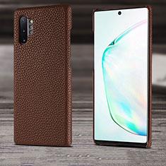 Handyhülle Hülle Luxus Leder Schutzhülle S03 für Samsung Galaxy Note 10 Plus 5G Braun
